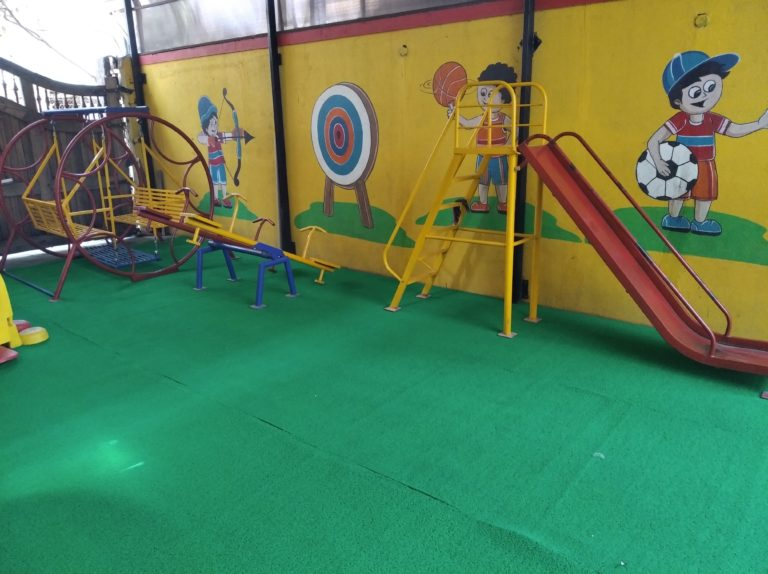 clean and colourful school play area