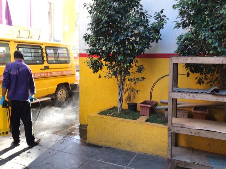sanitizing school vans
