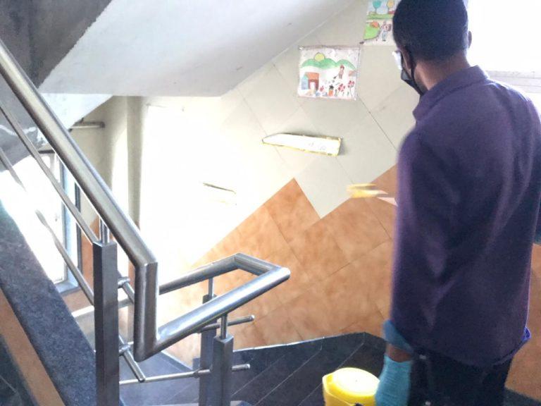 School common area sanitization
