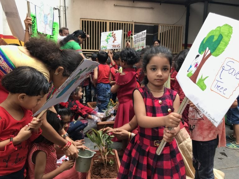 save tree message by Creative School Students